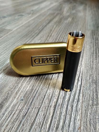 Metallclipper Gold/Schwarz