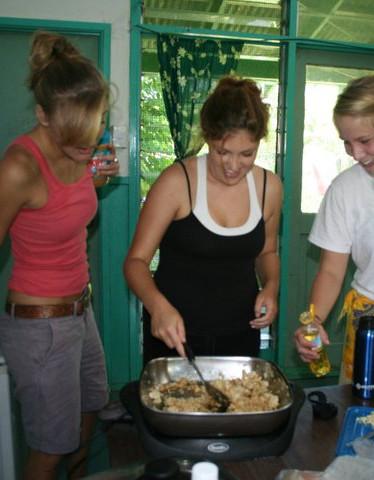 Cooking in Apia, Samoa