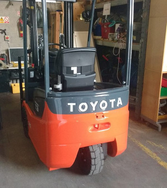 Our shiny new forklift