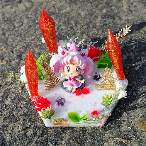 Chibi Moon Resin Coaster