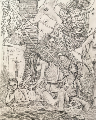 'Study for a future mural', pencil on paper, A4, 2020.
