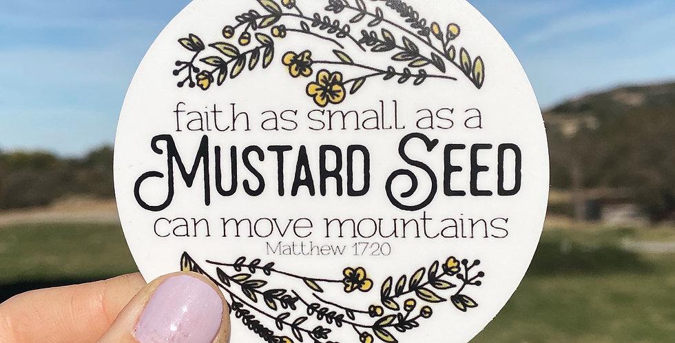 Mustard Seed Faith Sticker