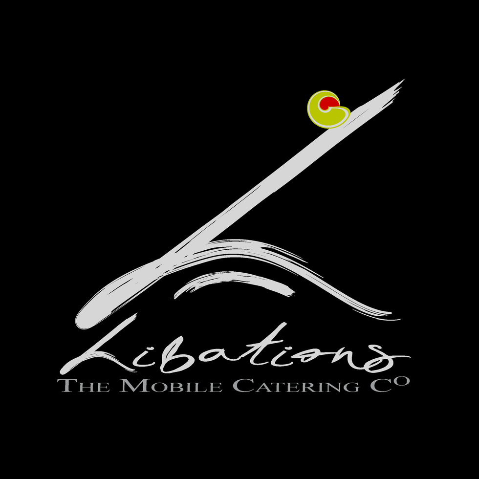 """Libations Mobile Catering Co"" Logo Desi"