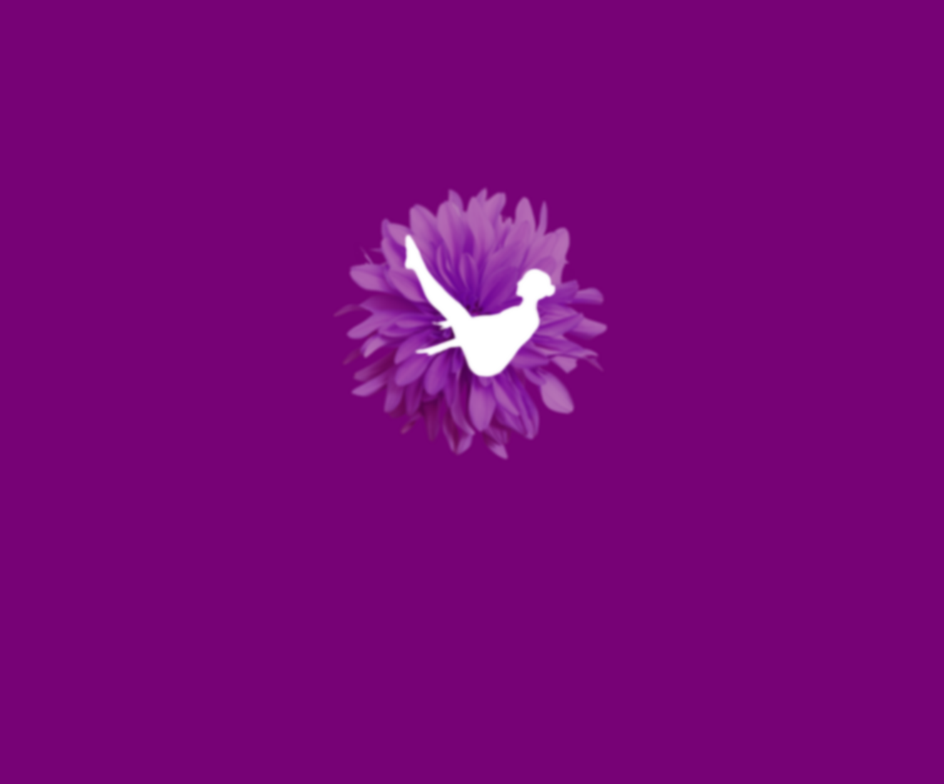 Pilates by julie logo as well as a purple flower with a pilates figure