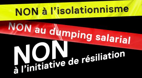 Le 27 septembre : un NON massif s'impose contre l'initiative de résiliation de l'UDC