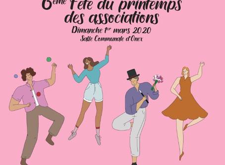 6ème Fête du Printemps des Associations,    dimanche 1er mars 2020