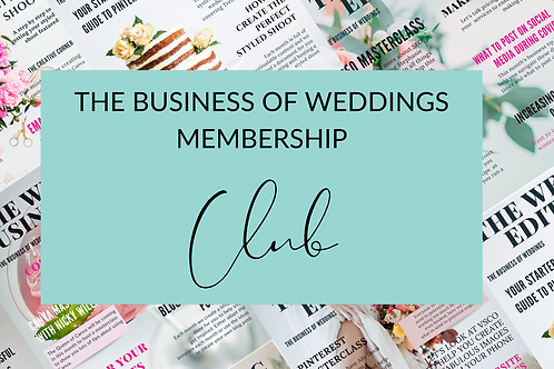 The Business of Weddings Membership Club Subscription