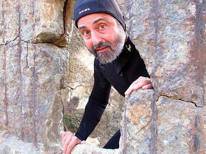 Charlie Feisty amid rocks.jpg