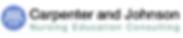 Carpenter and Johnson Nursing Education Consulting Logo