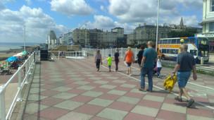 The sea front promenade near Warrior Square