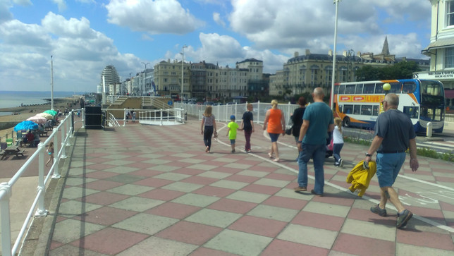 The sea front promenade near Warrior Square