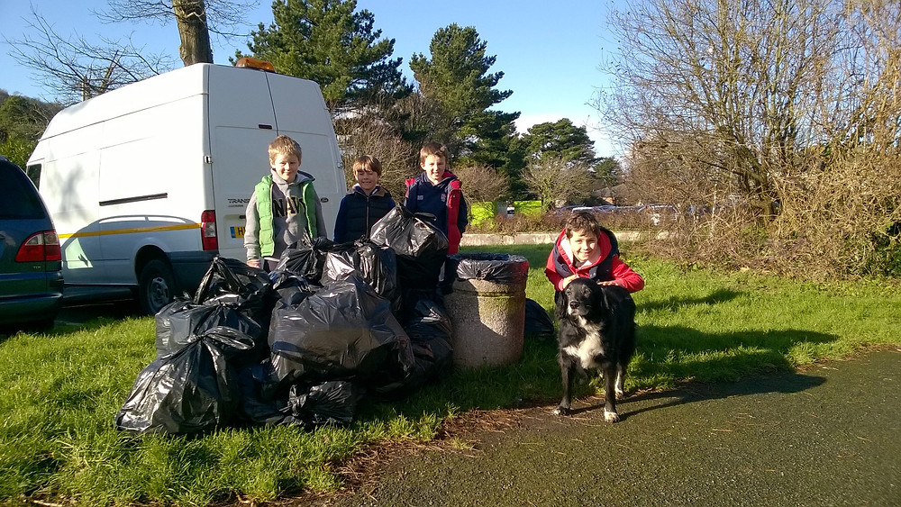 Community litter pick in Plympton St Maurice