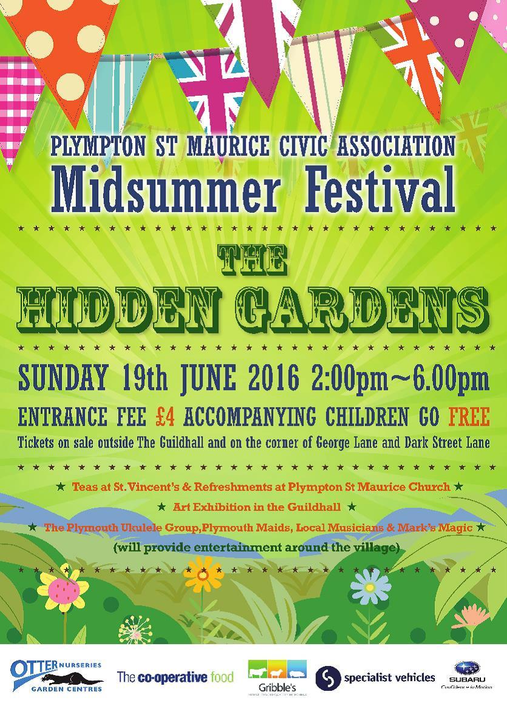 Plympton St Maurice Hidden Gardens 2016 poster