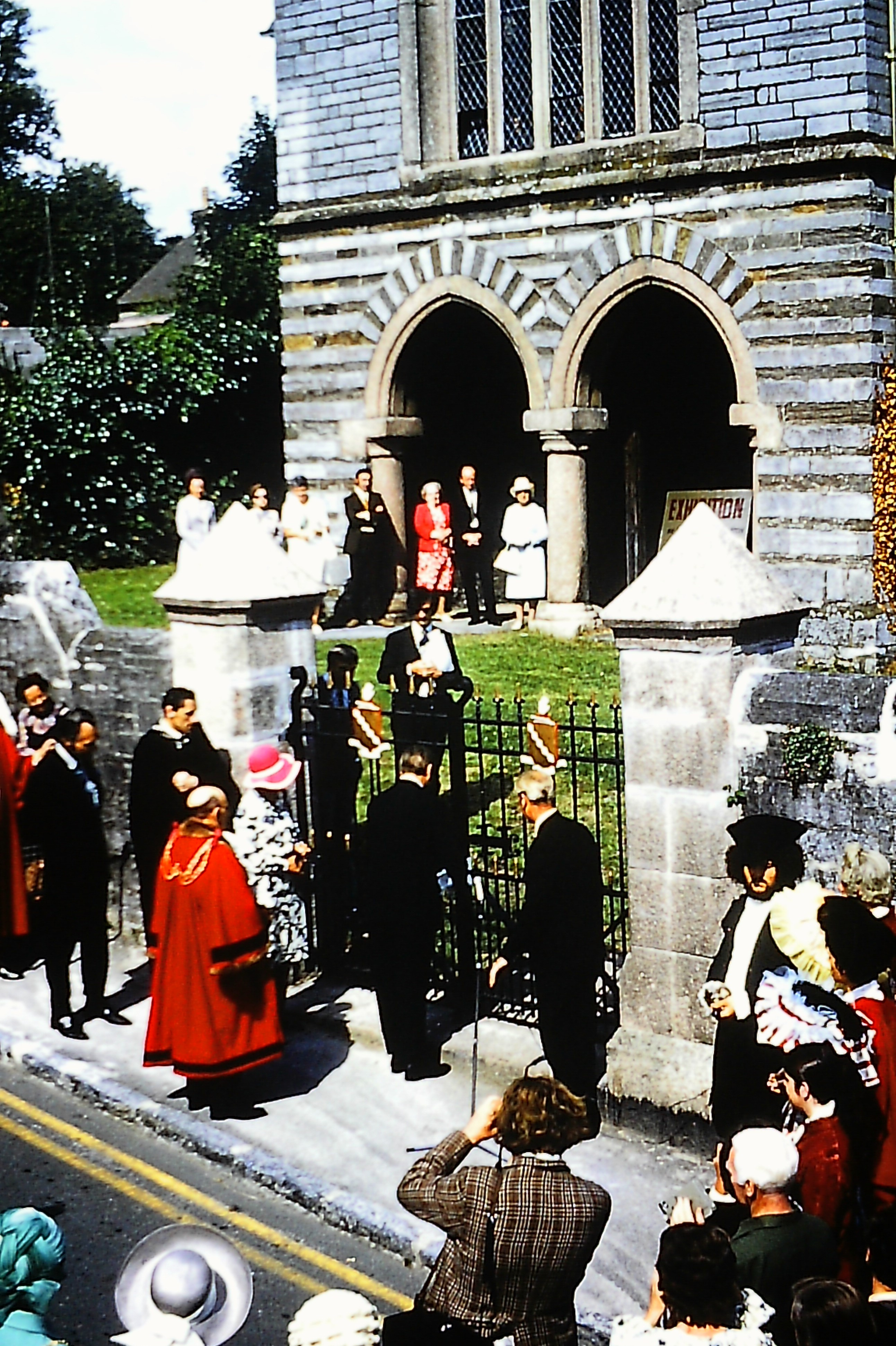 Opening of gates to Old Grammar School -1973