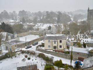 Plympton St Maurice covered in snow