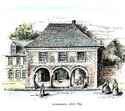 Plympton Guildhall-circa 1854