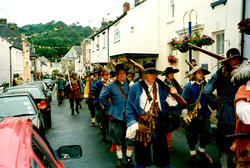 Sealed Knot Society marching in to battle