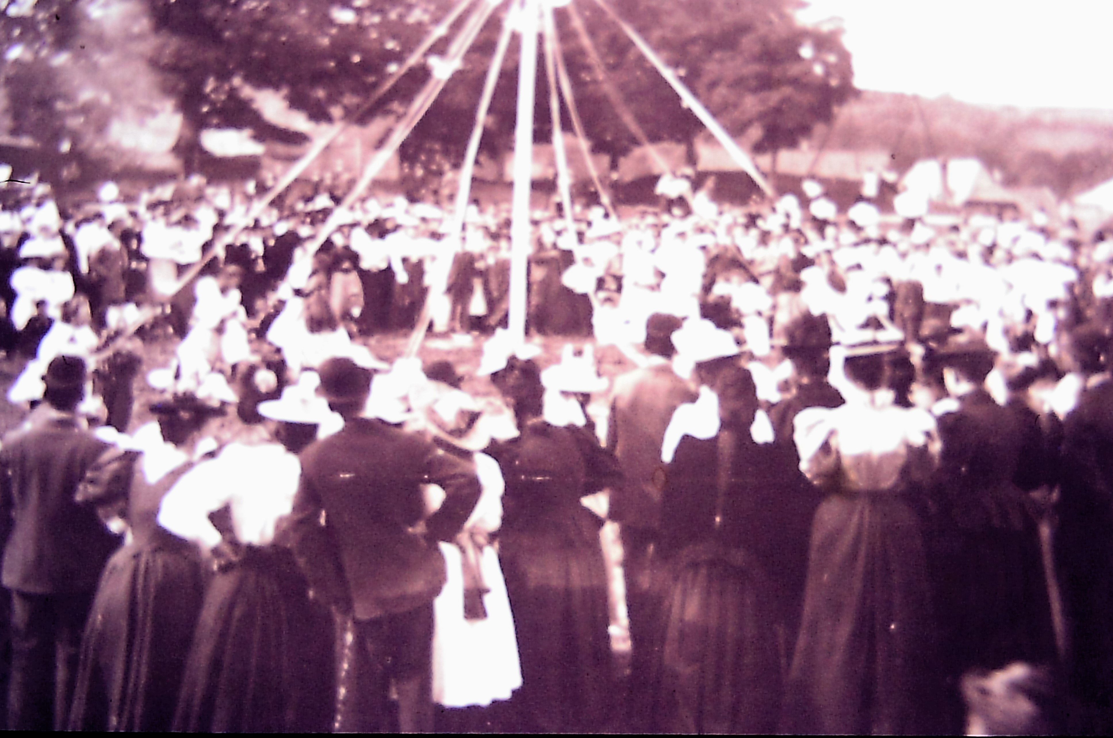 Plympton St Maurice maypole dancers - 1908
