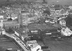 St. Maurice Church - aerial view from N.E.