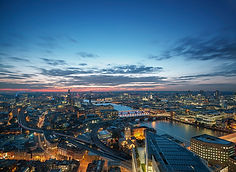 London Eye and St Paul's view by night -