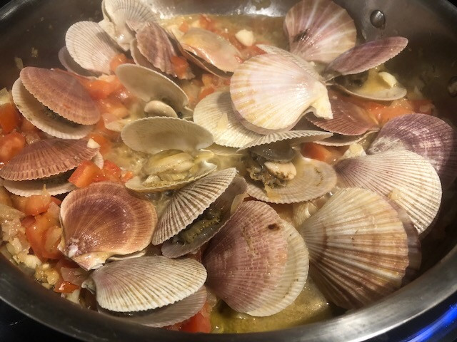 Sautéed scallops