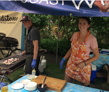Melissa Collier at the West Coast Wild Scallop booth during the BC Seafood Festival's Signature Weekend
