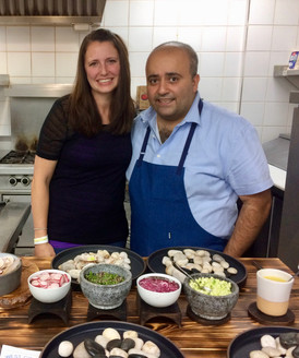 Melissa Collier and Chef Hamid Salimian at Slowfish 2017
