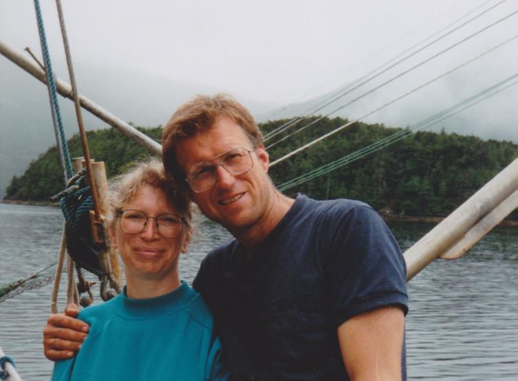 Young couple at sea