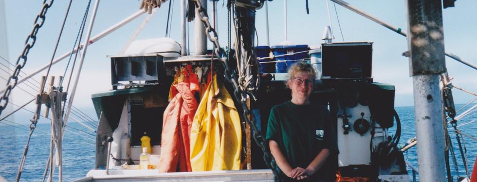 Skipper on deck