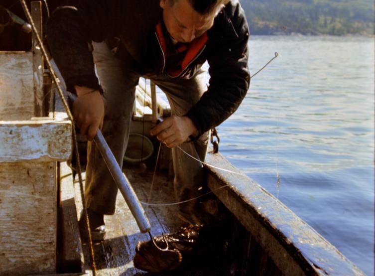 Elmer Larson with fish