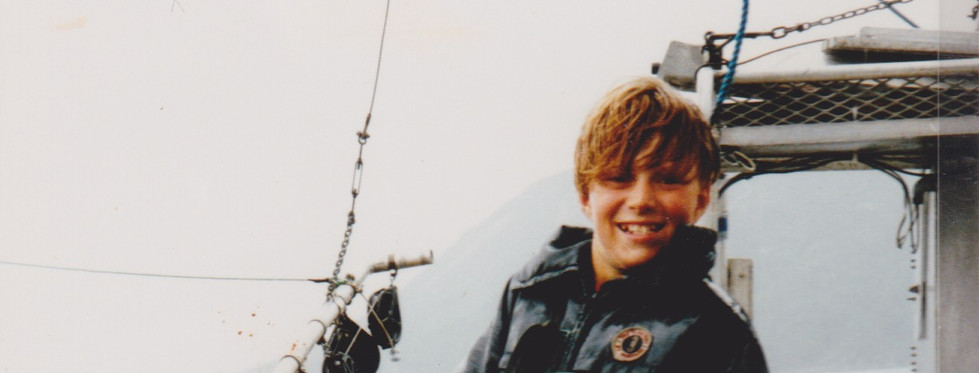 Joel with salmon 1994