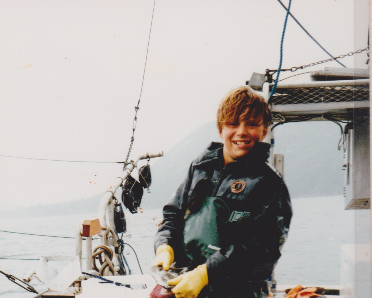 Joel with salmon 1994