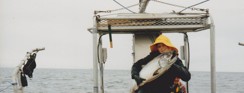 Joel with salmon 1992