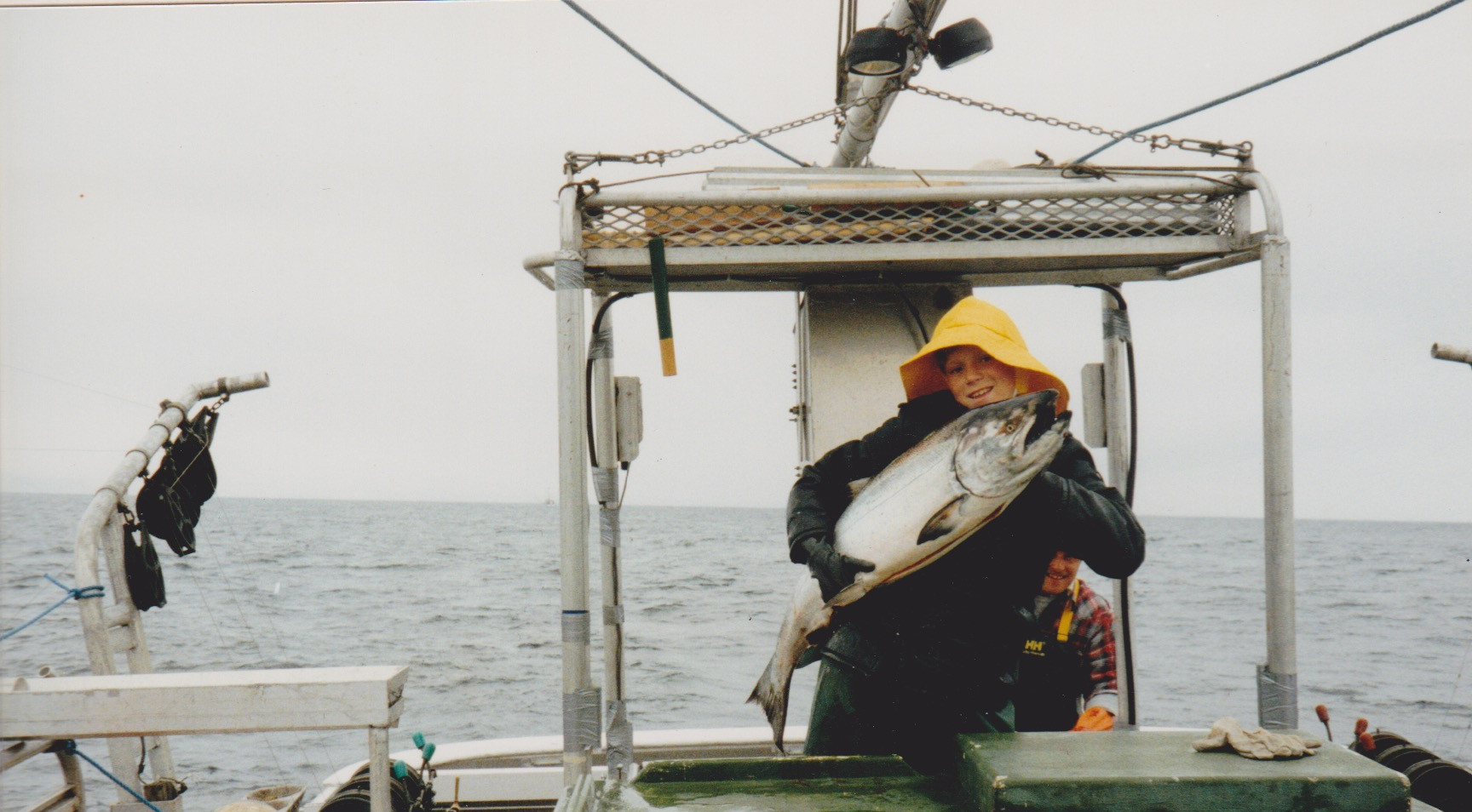 Joel with salmon 1992