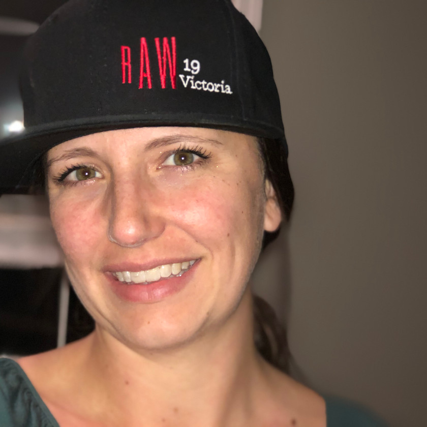 Melissa Collier wearing a rAW Victoria hat