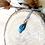 Thumbnail: Pendentif petite plume simple bleu