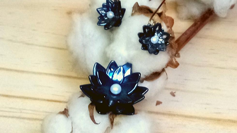Parure lotus bleu