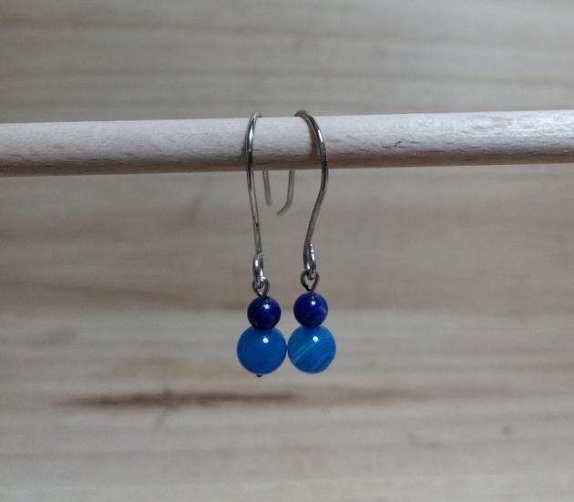 BO agathe bleu et lapis lazuli