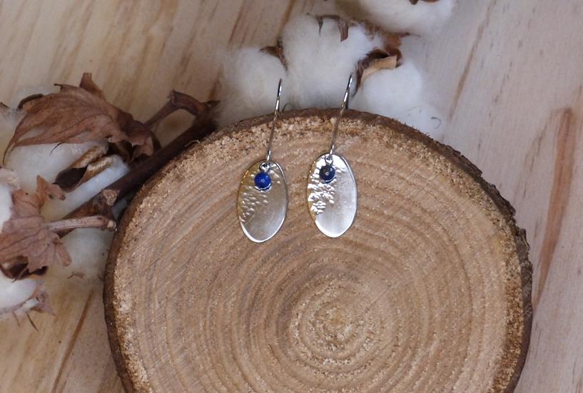 BO semi martelées et lapis lazuli