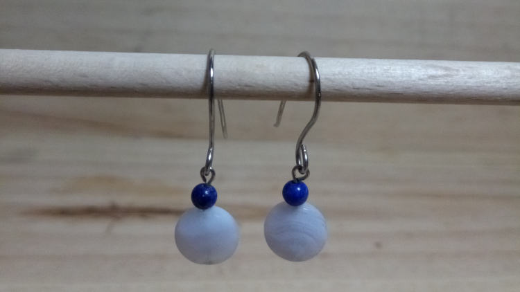 BO calcédoine bleu et lapis lazuli