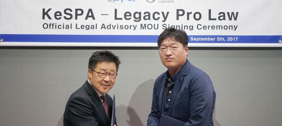 [ESPN] Korea e-Sports Association signed MOU with Legacy Pro Law