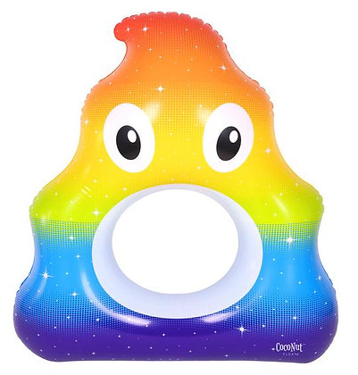 Rainbow Poop Pool Float