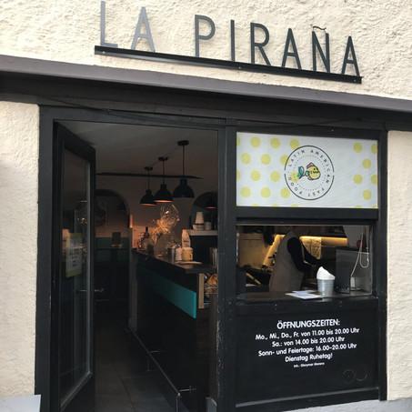 La Piraña - auf zu den glutenfreien Arepas (lecker gefüllte Maisfladen) beim gar nicht bissigen Raub