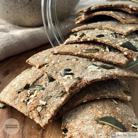 Glutenfreie Sauerteig-Cracker
