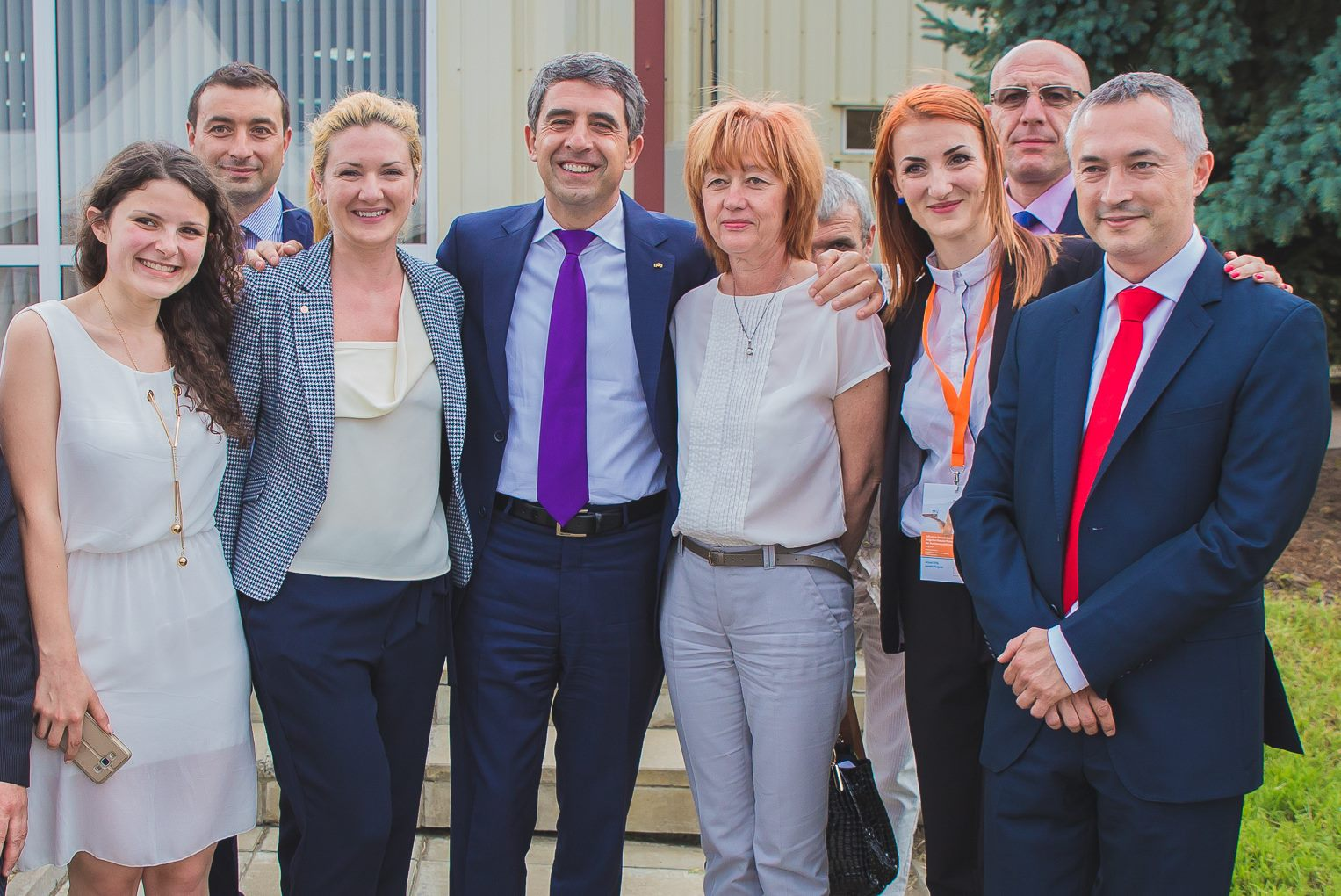 Visit of the President of Republic of Bulgaria in Aurubis plant in Pirdop, 2016