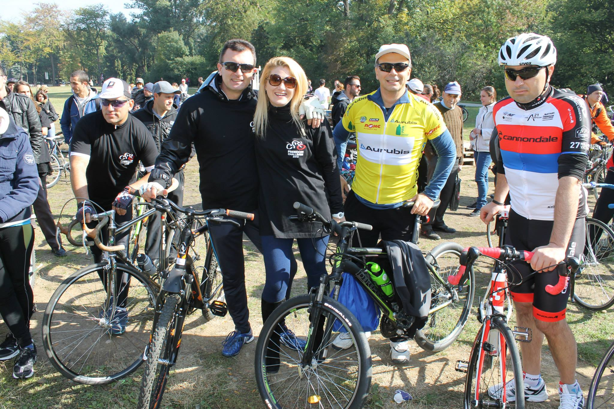 Charity cycling tour, 2014