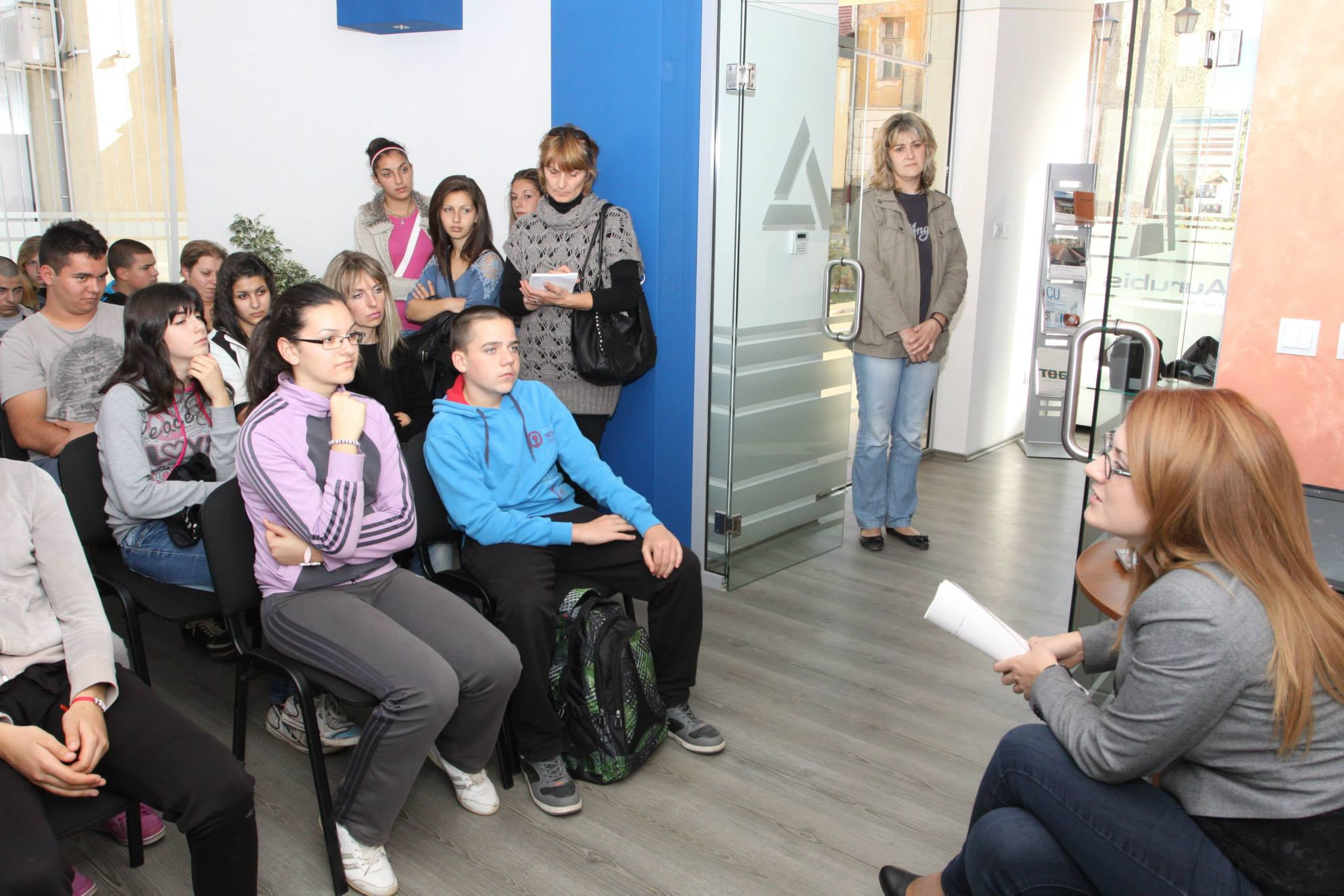 Meeting with high-school students, 2015