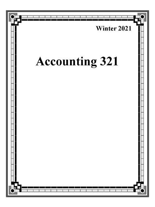 Accounting 321