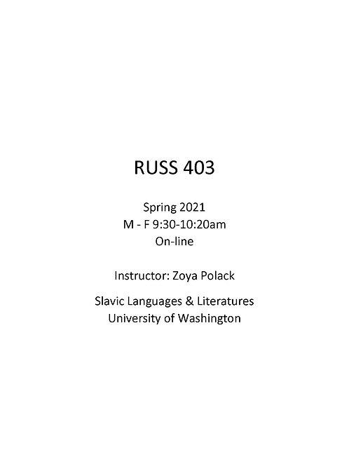RUSS 403