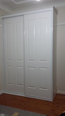16 Alum framed Poly Panel doors